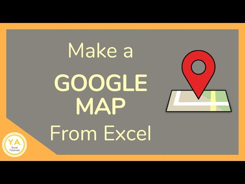 How to Make a Google Map from Excel - Tutorial