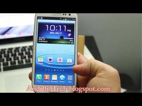How to Upgrade to Official Jelly Bean 4.1.1 on At&t Samsung Galaxy S3 I747