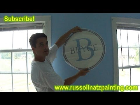 DIY Nursery Painting - Accent Wall & Horizontal Stripes (Part 1)