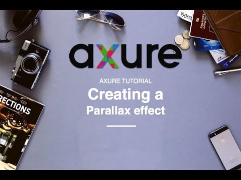 Axure tutorial 04: Create a Parallax scrolling effect