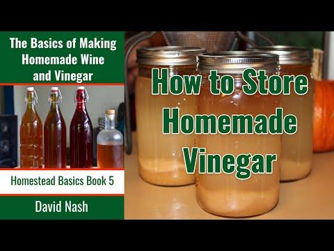 Testing, Feeding, and Storing Homemade Vinegar