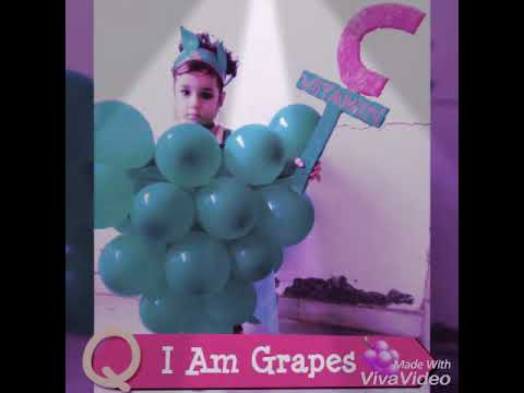 Fancy dress Competition for kids...Fruit costumes and Crystal wear the grapes🍇 costume...😊😊😘😘