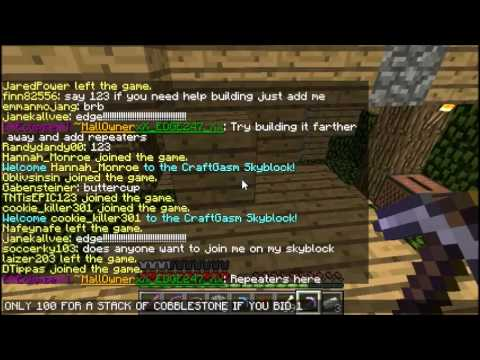 LonezebraGames: How to get the ender dragon egg in minecraft / SkyBlock Madness