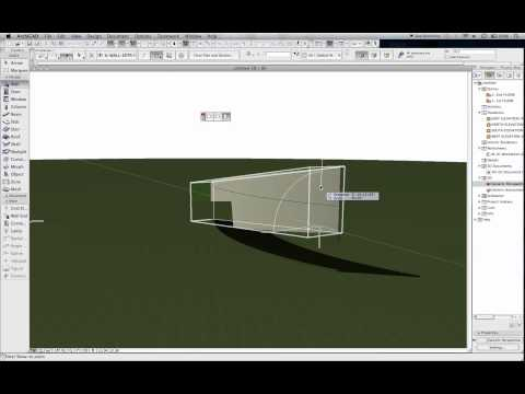 Curved Inclined Wall in ArchiCAD 16 w/ Morph Tool