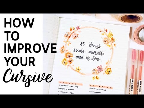 How To Improve Your Cursive Handwriting