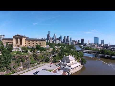 Art Museum Philadelphia (aerial) - DJI Phantom 2 Vision Plus