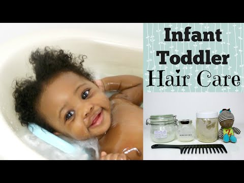 Baby Natural Hair Care | How to care for kid's Kinky Curly Coily Hair | Linda Barry