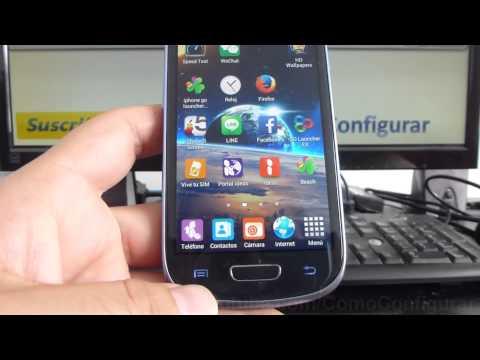 Cómo desinstalar las aplicaciones de samsung Galaxy s3 mini i8190 español Full HD