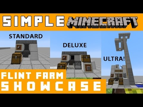 Flint farm showcase - Simple Minecraft
