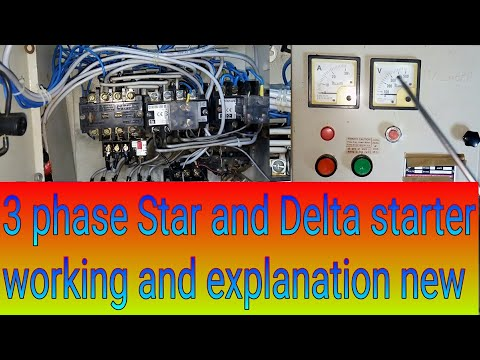 How the star delta starter  reduce starting current of motor /star delta control connection diagram