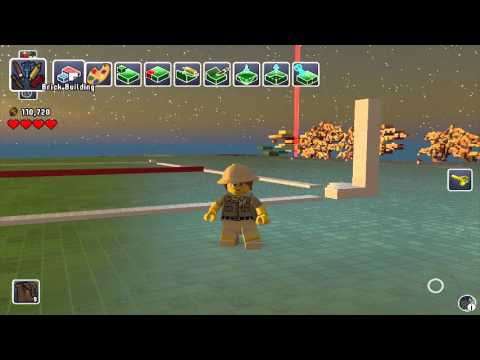 Lego Worlds - Building Lego Bank of China Tower, Hong Kong - 01 Site markings and base structure