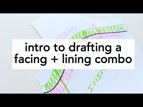 Intro to Drafting a Facing and Lining Combination   Vintage on Tap
