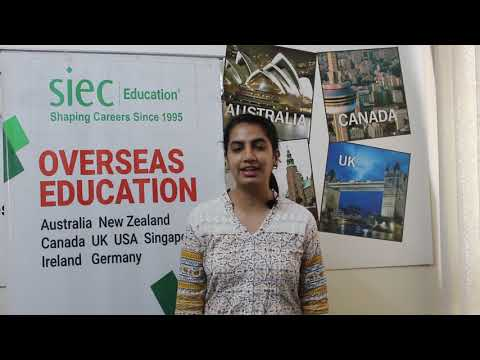 Student shares her experience of getting a Student Visa for Australia with the help of SIEC