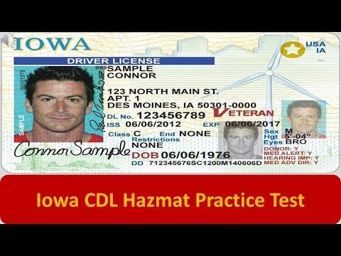 Iowa CDL Hazmat Practice Test
