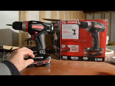 Equipment Review - 19.2 Volt Craftsman Drill