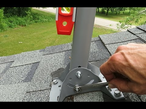 How to Install an Off-Air Roof Antenna Using a Former Satellite Mount