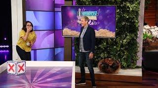 Ellen Leads a Fan Down the