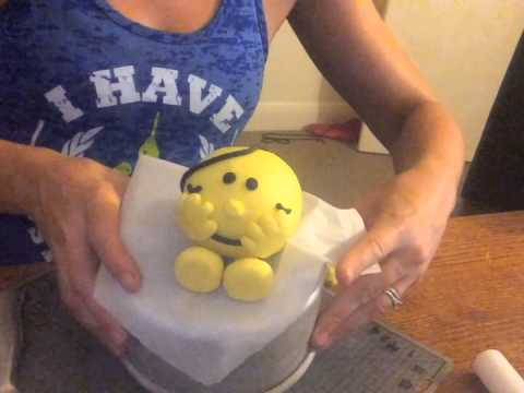 How to make Little Miss Sunshine from fondant