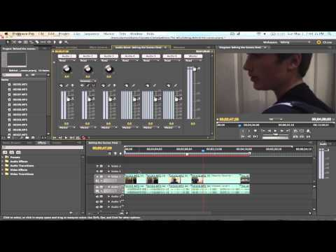 How to do a Voice Over in Premiere Pro CS5