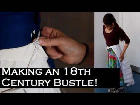 Making An 18th Century Victorian Bustle! - BEHIND THE SCENES OF THE WEEVIL IN THE BISCUIT!