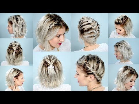 10 EASY BRAIDS FOR SHORT HAIR TUTORIAL | Milabu
