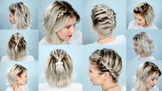Download 10 EASY BRAIDS FOR SHORT HAIR TUTORIAL | Milabu Video