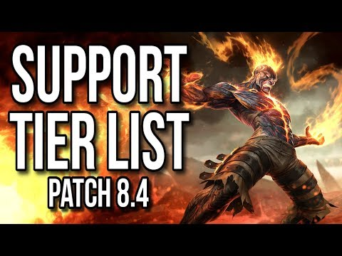 Support Tier List Patch 8.4 - League of Legends