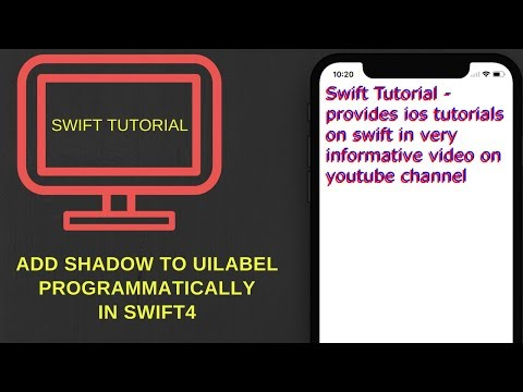 How to add shadow to UILabel text in swift 4