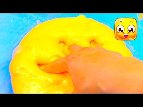 How To Make Gold Slime With White Glue, without borax, gold powder! Jiggly slime recipes easy fluffy