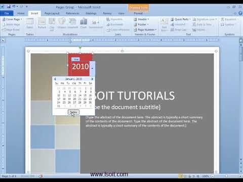 Pages Group in Insert Tab Ms Word  Video Tutorials in Hindi -LSOIT.COM