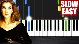 Celine Dion - My Heart Will Go On - SLOW EASY Piano Tutorial by PlutaX