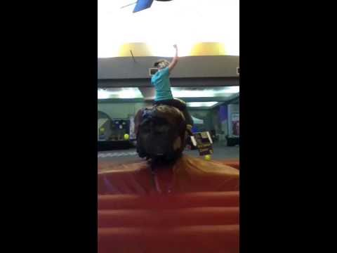 First time on a fake bull #emma.hoffer1