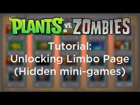 How to access the Limbo Page (hidden mini-games) in Plants vs. Zombies