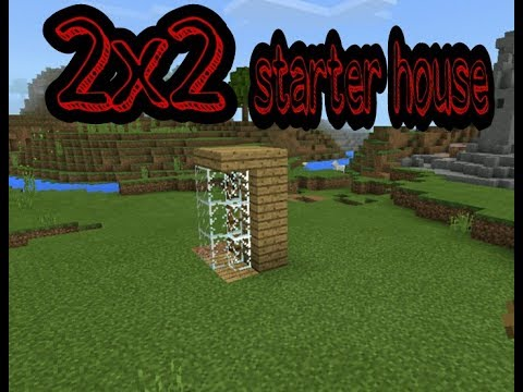 Minecraft PE: How to make 2x2 starter survival house in Minecraft Pocket edition or minecraft PC