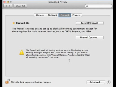 How to Turn on the Firewall on a MAC (OSX 10.9)