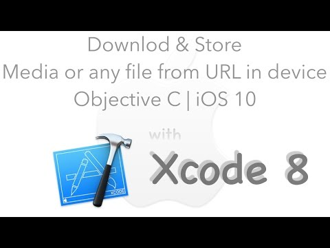 Download and Store media or any file from URL in device | Objective C | iOS 10 | Xcode 8