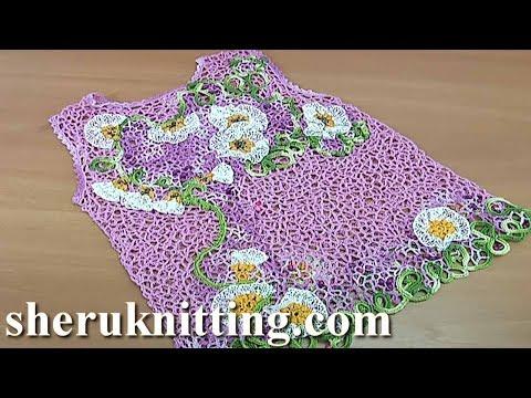 Crochet Baby Dress Tutorial 131 Irish Lace Dress