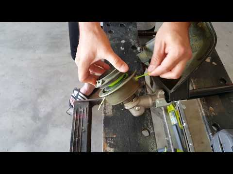 Short Edition - How to change the trimmer line on a 40 volt Ryobi edger / weed eater / weed wacker