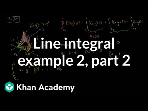 Line integral example 2 (part 2)   Multivariable Calculus   Khan Academy