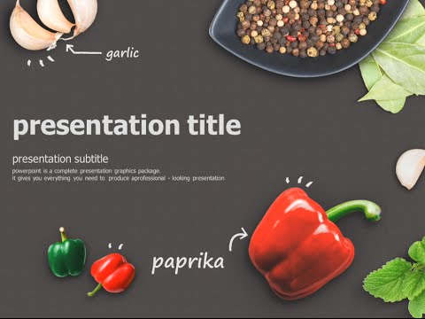 food animated powerpoint template