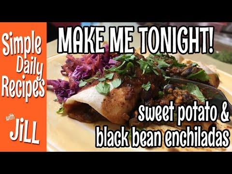 Wish I Made More Sweet Potato Black Bean Enchiladas