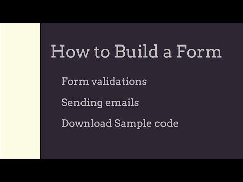 How to build a web form