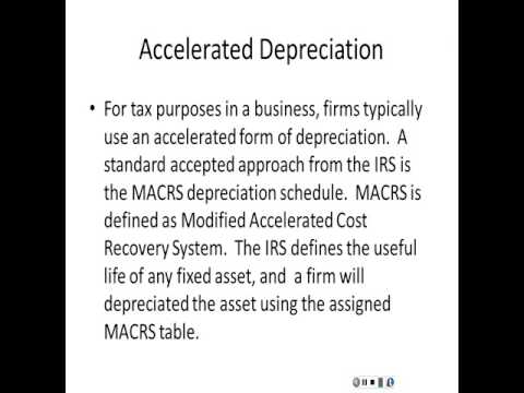 Depreciation---Capital Budgeting Module