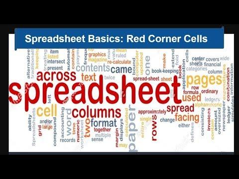 Spreadsheet Basics: Red Corner Cells