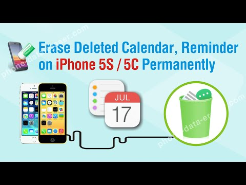 How to Erase Deleted Calendar, Reminder on iPhone 5S / 5C Permanently