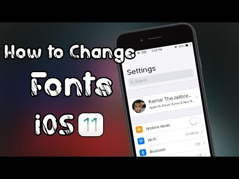 How to Change Fonts in your device on iOS 11 - 11.1.2