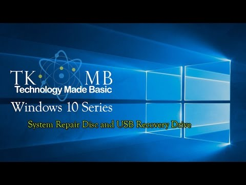System Repair Disc and USB Recovery Drive Windows 10