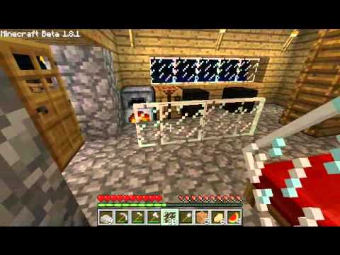 Minecraft How to make glass panes 1.8