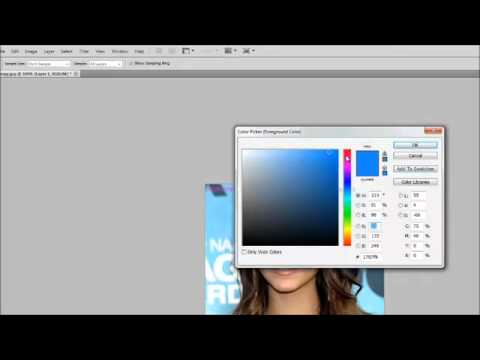 Photoshop CS5 - Changing Hair Colour - Tutorial For Beginners