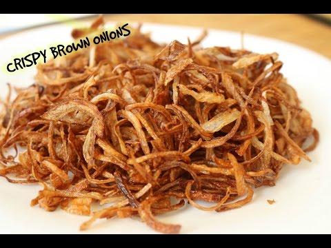 How To Make Brown Onions - Biryani Onions | Recipe By Bharatzkitchen